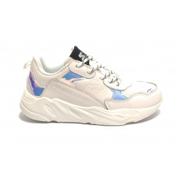 Sneaker donna Starter fondo running in ecopelle colore bianco DS19ST01