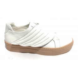 SNEAKER HOPE MOD. FLY IN PELLE NAPPA COLORE BIANCO/ FONDO ROSA DONNA DS19HO02