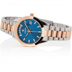 OROLOGIO HOOPS LUXURY IN ACCIAIO 2620LSRG04 SILVER ROSE GOLD BLUE