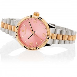 OROLOGIO HOOPS NEW LUXURY IN ACCIAIO 2618LSRG05 SILVER ROSE GOLD PINK