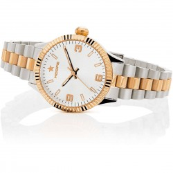Orologio Hoops New Luxury Silver and Gold Bianco 30mm da Donna