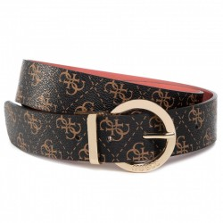 Cinta donna Guess Camy Reversible in ecopelle brown/ rosa logo 4G C21GU11