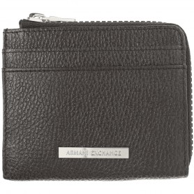 Portafogli uomo Armani Exchange credit card holder nero AS21AX07 958116