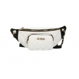 Borsa Guess marsupio Illy crossbody belt bag trapuntata white/ black BS21GU73 VG797080