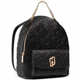 Zaino Liu-Jo backpack M zaino in ecopelle embossed nero BS21LJ53 AA1342