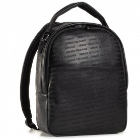 Borsa Armani Exchange zaino Pipe in ecopelle nero UBS21AX05 952083