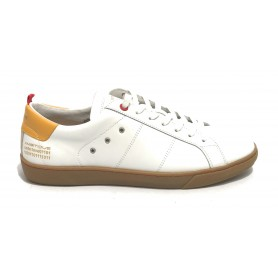 Scarpa uomo Ambitious sneaker 11490 in pelle white/ yellow US21AM06