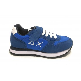 Scarpe bambino Sun68 sneaker boy's Tom solid nylon blue royal ZS21SU10 Z31301