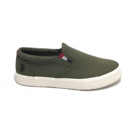 Scarpe US Polo slipon uomo Joshua canvas vulcanized military green US21UP32