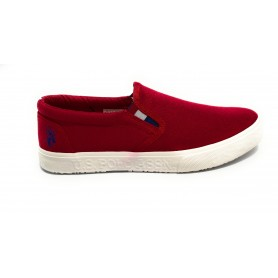 Scarpe US Polo slipon uomo Joshua canvas vulcanized red US21UP30