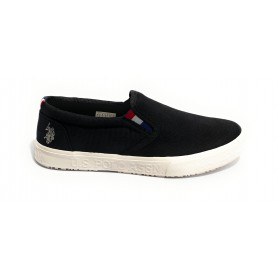 Scarpe US Polo slipon uomo Joshua canvas vulcanized black US21UP31
