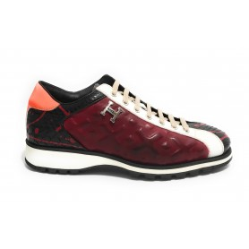 Scarpe uomo Harris sneakers pelle pregiata splash/ yes london red U17HA155