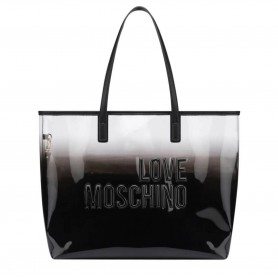 Borsa donna Love Moschino shopping pvc nero con pochette BS21MO125 JC4255