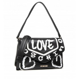 Borsa donna Love Moschino tracolla 3 comparti ecopelle nero BS21MO127 JC4218