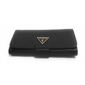Portafoglio donna Guess Sandrine SLG file clutch black AS21GU35 VG796559